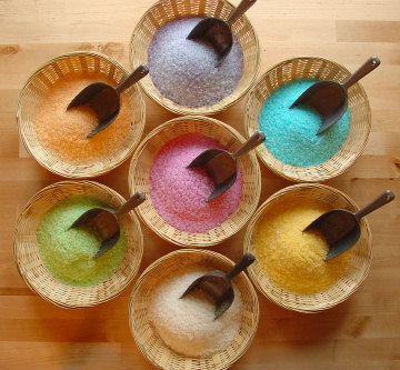 Perfumed Colored Bath Salt
